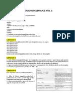 Ejercicios de Lenguaje HTML