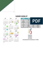 Calendario Nacional 2017