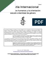 Amnistia Internacional - Pro Gay - Los Derechos Humanos y La Orientación Sexual e Identidad de Género