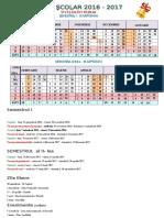 Calendar Scolar Inv.primar 2016-2017