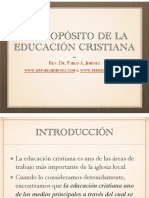 El Propósito de La Educación Cristiana