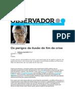 Os Perigos Da Ilusão Do Fim Da Crise