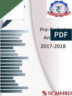 Pre Budget Analysis 2017 18