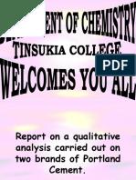 Cement Analysis- Department Of Chemistry- Tinsukia College- Tinsukia- Asom