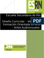 Diseño Curricular Orientación en Arte - Artes Audiovisuales - Versión 0