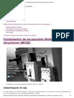 Fundamentos de Encapsulado Moldeado Disyuntores (MCCB) _ EEP