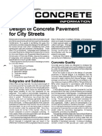 Concrete Information - Design of Concrete Pavement for City Streets
