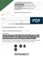 Cómo hacer un derecho de petición para salir de Datacrédito.pdf