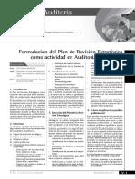 formulacion del plan de gestion de auditoria