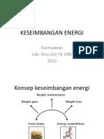 Konsep Keseimbangan Energi