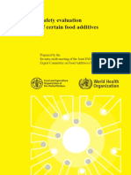 Evaluation of Food Additives