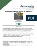 Tecnologia Para Produção de Canola No Rio Grande Do Sul - EMBRAPA