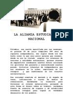 Manifiesto Alianza Estudiantil Nacional