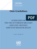 UN OCHA - Oslo Guidelines - The Use of Foreign Military and Civil Defence Assets in Disaster Relief - Nov 2007