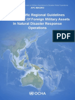 UN OCHA - Asia-Pacific Regional Guidelines for the Use of Foreign Military Assets in Natural Disaster Response Operations - Feb 2014