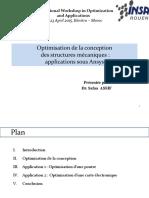 Optimisation de La Conception Des Structures Mécaniques _ Applications Sous Ansys
