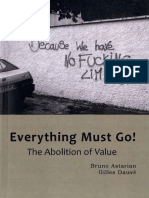 Everything Must Go! The Abolition of Value