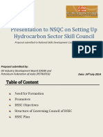 Presentation by Proposal Owners of Hydrocarbons SSC