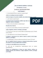 Cuestionario de Filosofía.