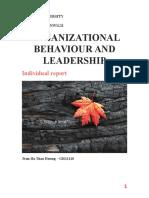 Organizational Behaviour and Leadership