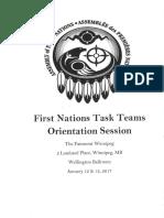 First Nations Task Teams Orientation-Winnipeg Jan. 12, 2017