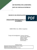 Evaluación Institucional y Calidad