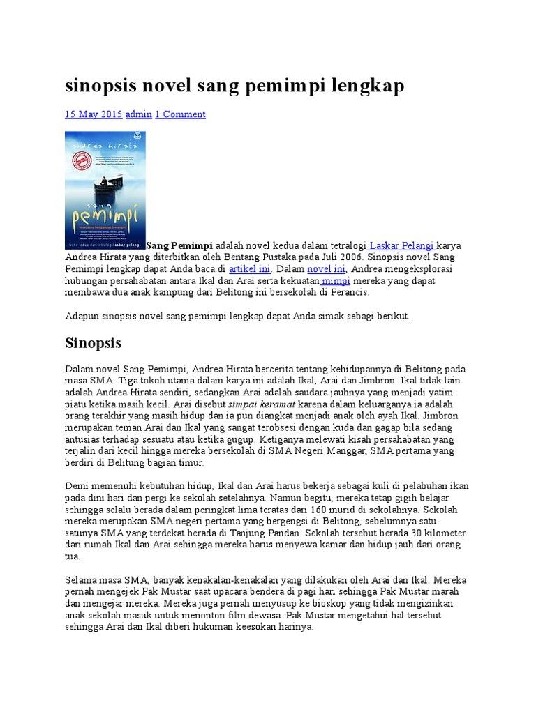 Contoh Resensi Buku Novel Sang Pemimpi Info Terkait Buku