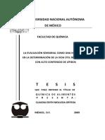 TESIS - La Evaluacion Sensorial Como Herramienta en La Determinacion de Calidad