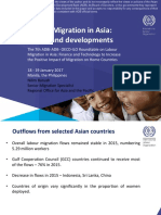 Labour Migration in Asia trends and developments