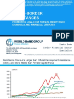 Cross-border remittances promoting low-cost formal remittance channels and financial literacy