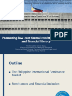 Promoting low-cost formal remittance channels and financial literacy