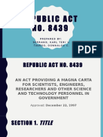 RA 8439 Magna Carta for Scientist
