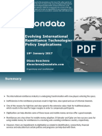 Evolving international remittance technologies policy implications