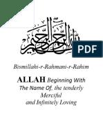 Mishkat Al-Anwar 101 Diamonds Hadith Al-Qudsi Collected by Al-Shaykh Al-Akbar Ibn Al-'Arabi