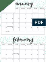 OhSoLovelyBlog 2016 Calendar Aqua Dot