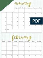 OhSoLovelyBlog 2016 Calendar Aqua Crosshatch