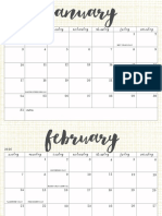 OhSoLovelyBlog 2016 Calendar Aqua Web