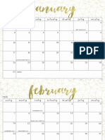 OhSoLovelyBlog 2016 Calendar Gold Dot