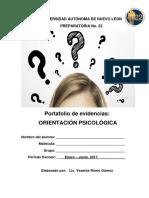 Portafolio de Evidencias Orientacion Psicologica