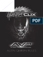 AvP Horrorclix Alien Queen Rules English