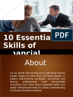 10 Essential Skills Of Financial Planners