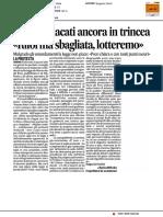Ersu, sindacati ancora in trincea - Il Corriere Adriatico del 26 febbraio 2017