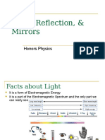 Honors Physics - Reflection and Mirrors
