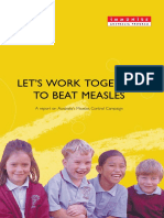 Lets Work Together to Beat Measles