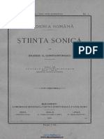 G.constantinescu Sonicitatea 1920