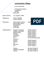 billy marshall curriculum vitae