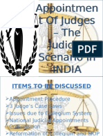 Appointment of Judges – the Judicial Scenario in Ppt (2)