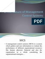1. Nature of MCS