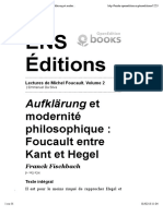 Foucault Entre Kant Et Hegel (Fischbach)