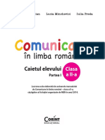 Comunicare in Limba Romana Caiet Cls II Sem I
